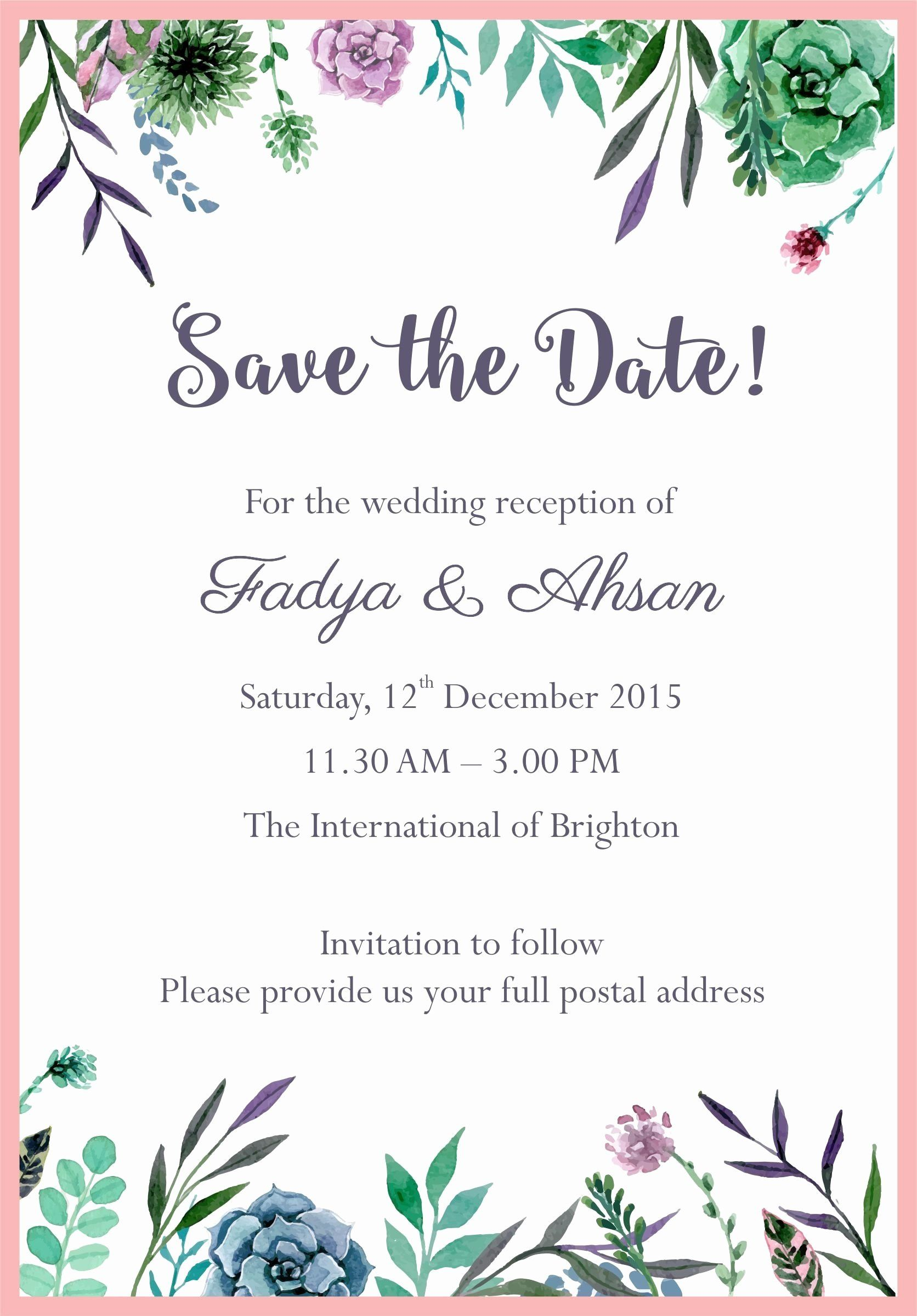 Wedding Invitation Email Template In