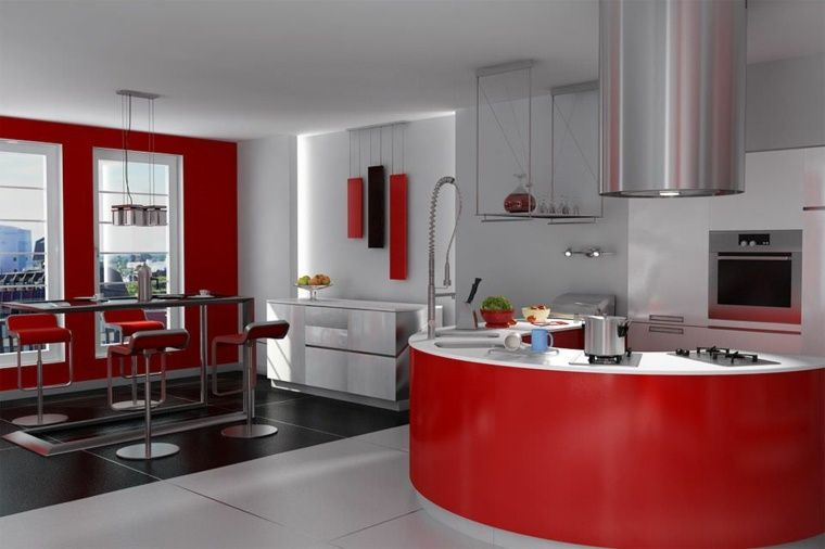 Awesome Cuisine Grise Et Rouge #7: Pinterest