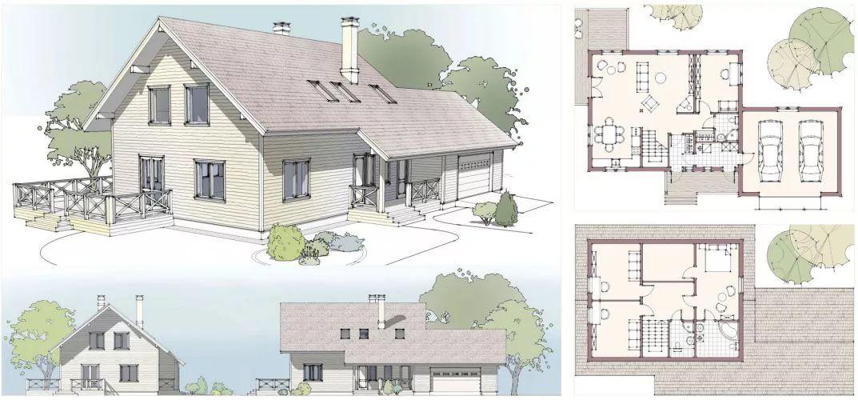 загородный дом план с картинками строит большие планы