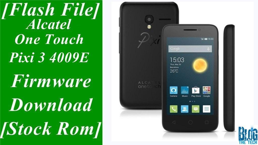 alcatel one touch 4009e firmware update