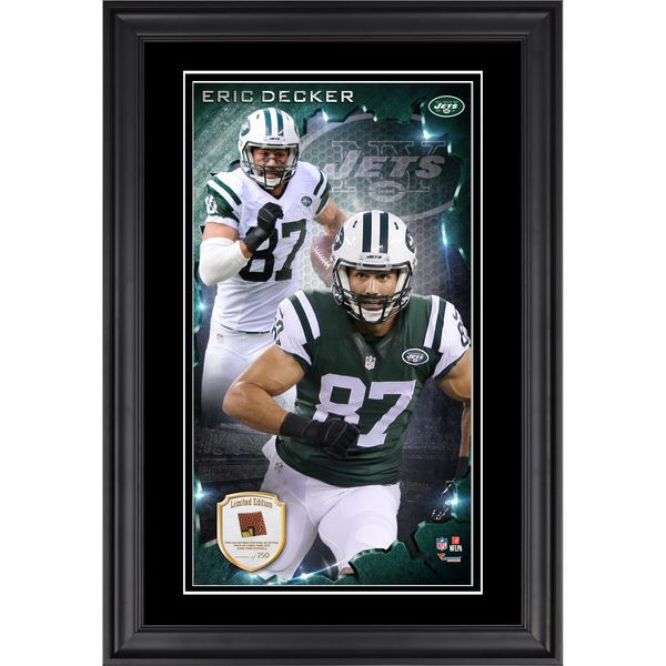 Eric Decker New York Jets Fanatics Authentic Vertical Framed Photograph  with Piece of Game-Used c0d063086