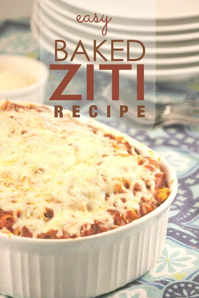 Easy Baked Ziti Recipe - Spaceships and Laserbeams