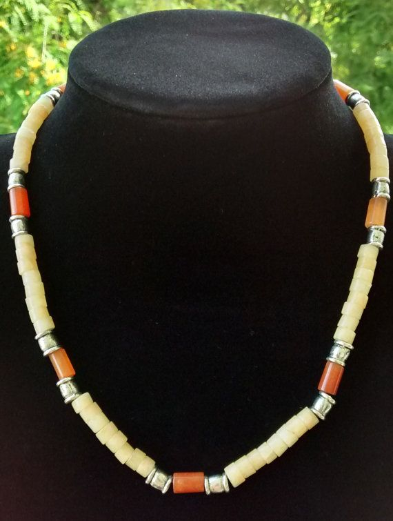 Men Necklace Aventurine and Calcite Gems  New by LiliyaJewelry