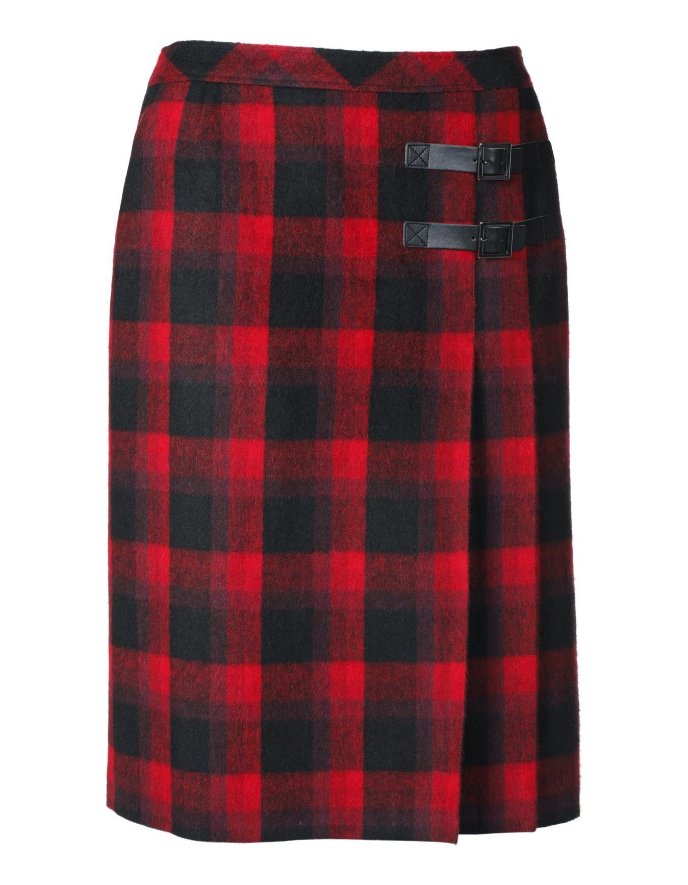 Karorock mit Zierriegeln in der Farbe rot / schwarz - schwarz, rot - im MADELEINE Mode Onlineshop