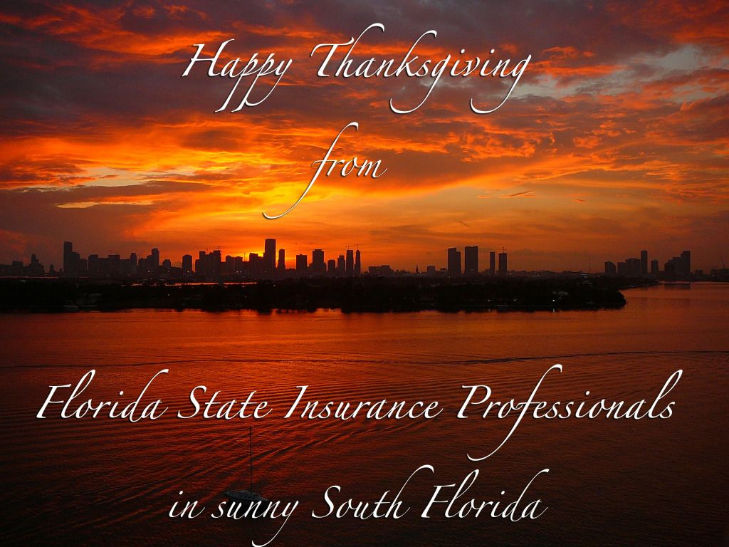 Happy Thanksgiving From Florida State Insurance Professionals In