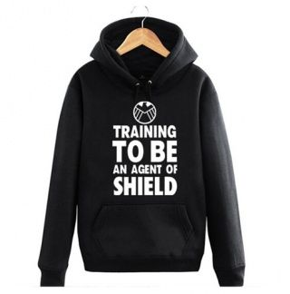 Marvel's Agents of Shield S.H.I.E.L.D. logo unisex pull over hooded sweatshirt/hoodie xHUz5vLJo