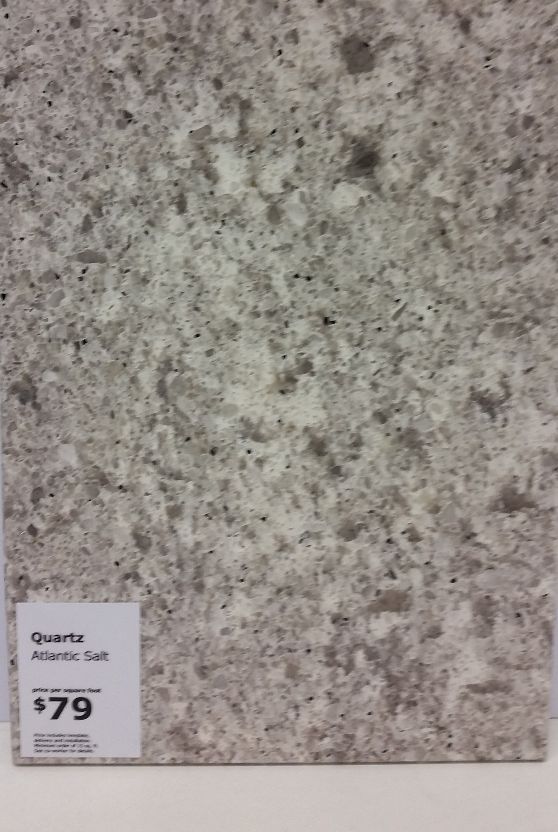 Ikea Atlantic Salt Quartz Countertop Total Cost 79 Per