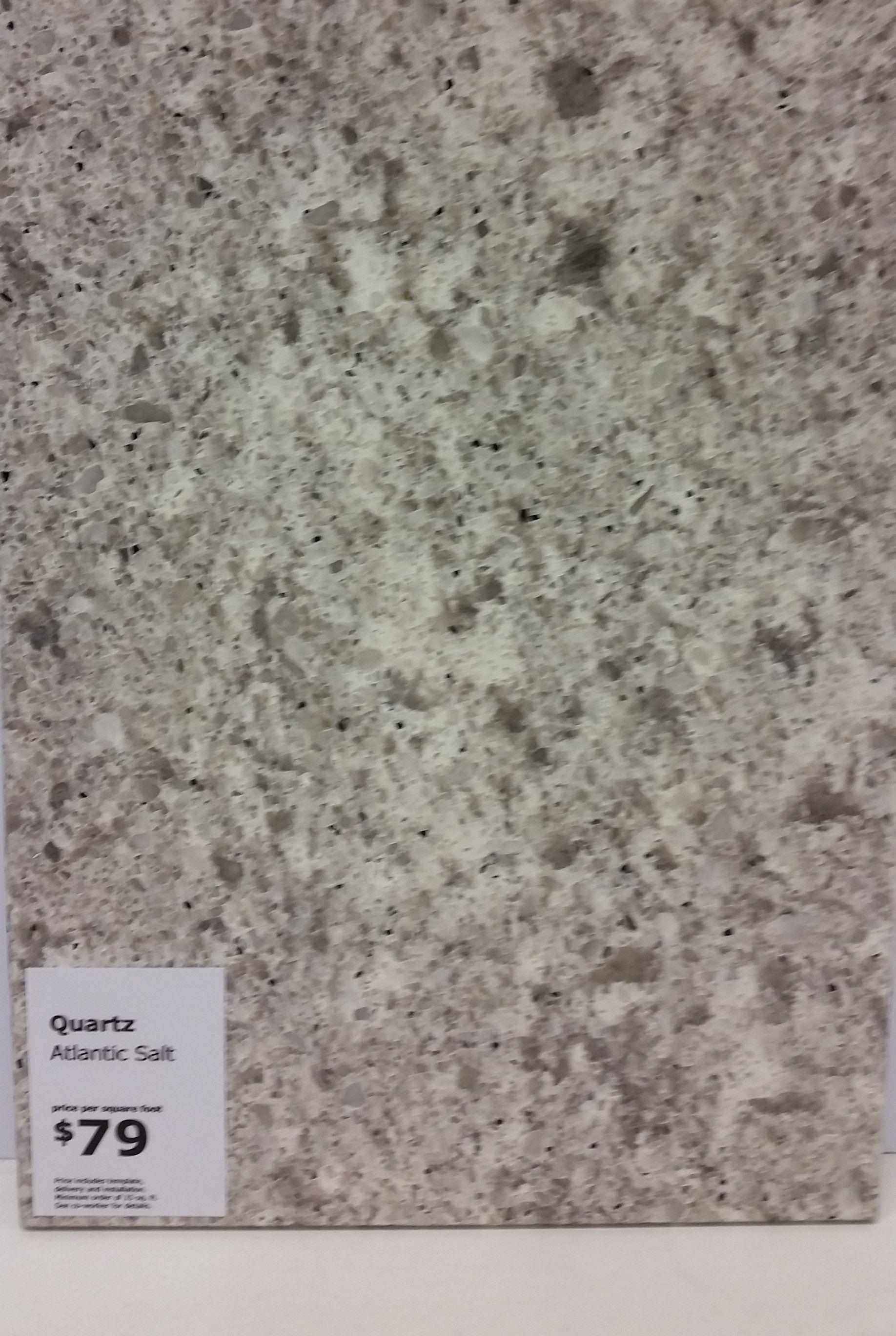 Ikea Atlantic Salt Quartz Countertop. Total Cost $79 Per Square Foot  (includes Professional Measuring