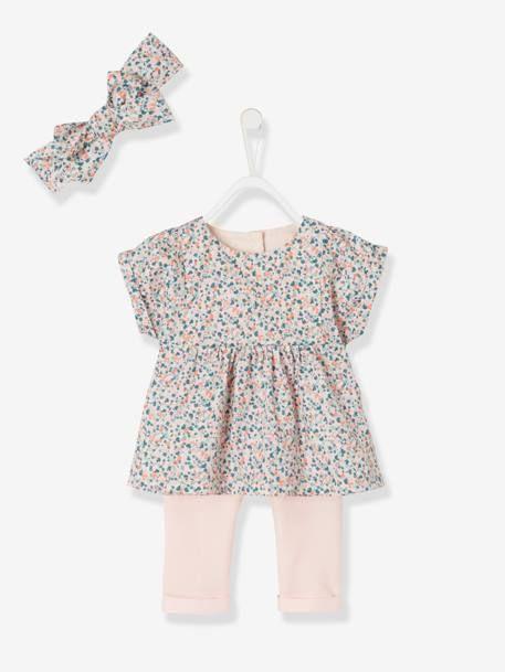 bfaf54c22623a Combi-short imprimée bébé fille - rose en 2019