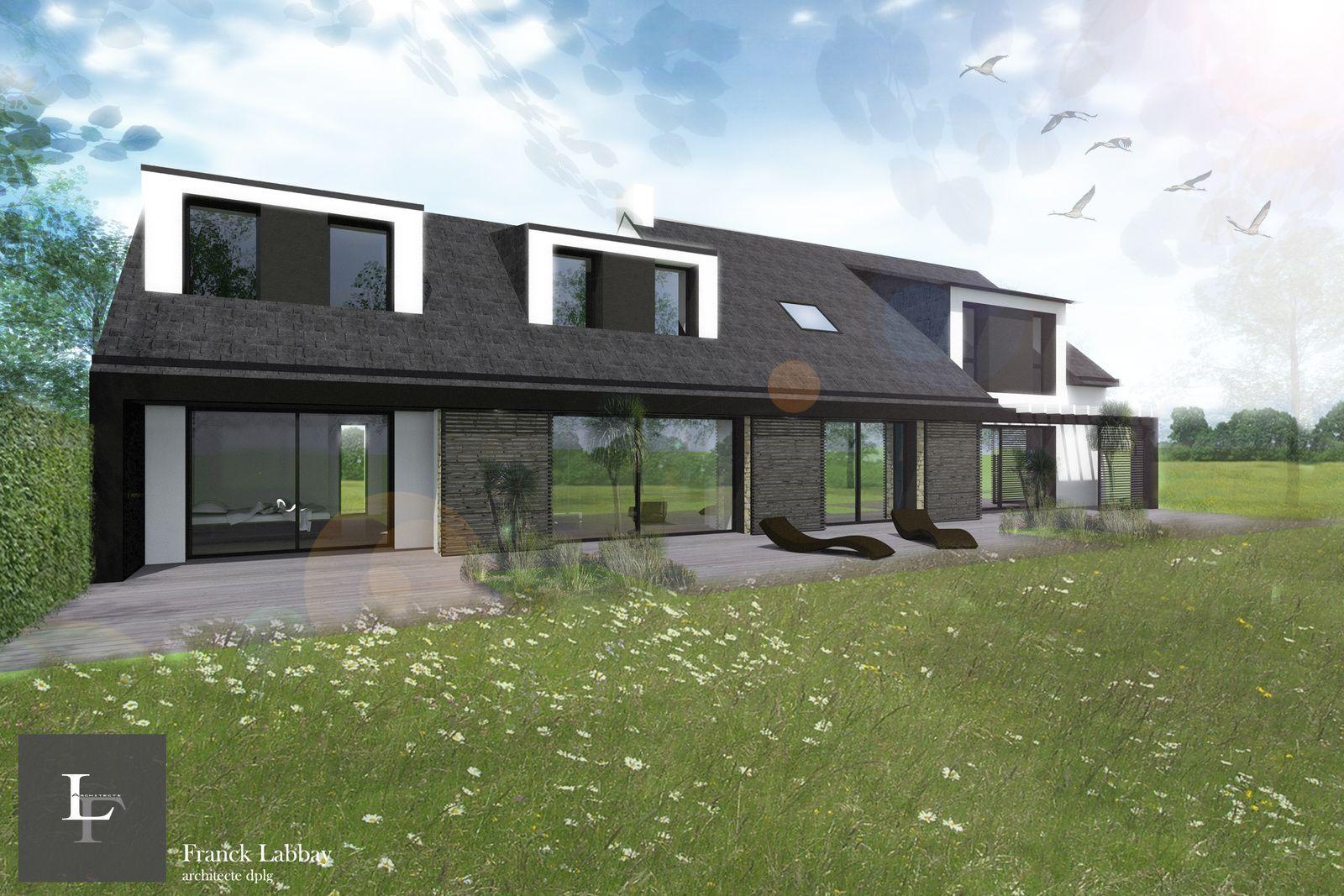 Agrandissement Maison Néo Bretonne maison b - extension et renovation d'une maison neo bretonne