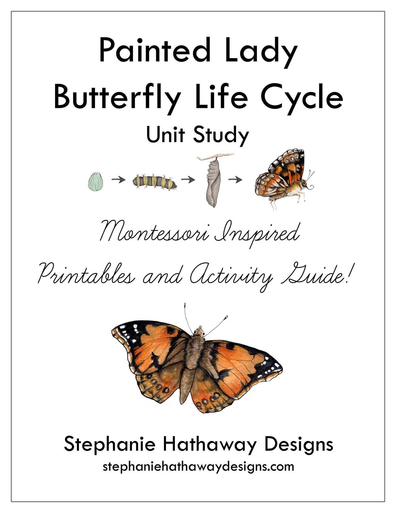 Painted Lady Butterfly Unit Study Bundle