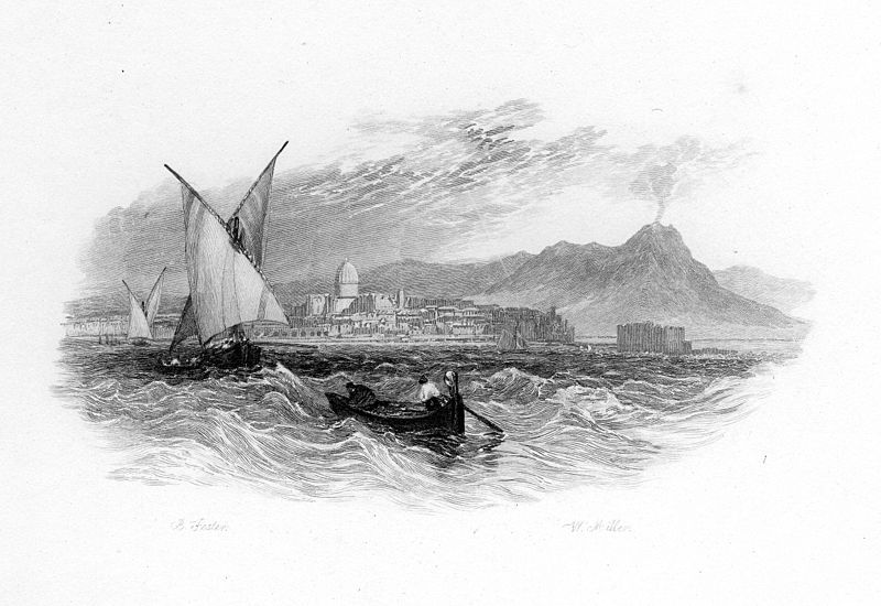File''Twas in the Bay of Naples' engraving by William