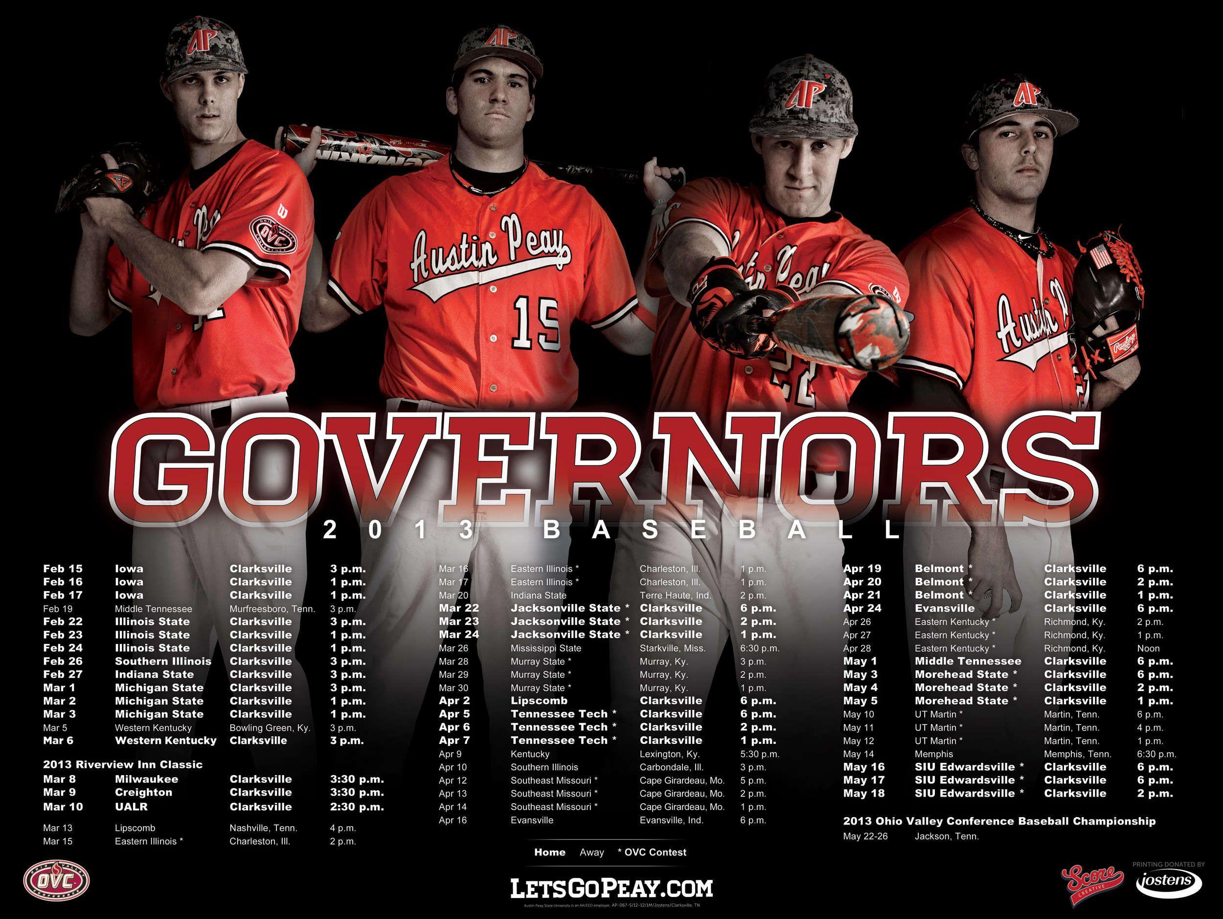 2013 posters austin peay baseball posters baseball
