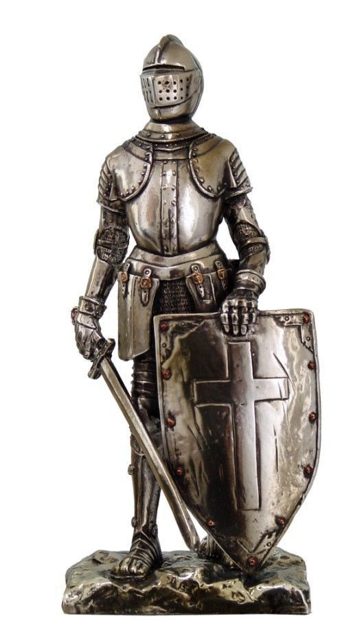 Medieval Knight Decorative Figurine Crusader Standing Guard Statue Suit Of Armor Medieval Knight Crusader Knight Knight