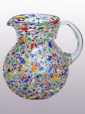 new items uconfetti rocksu blown glass pitcher jarrajarras de