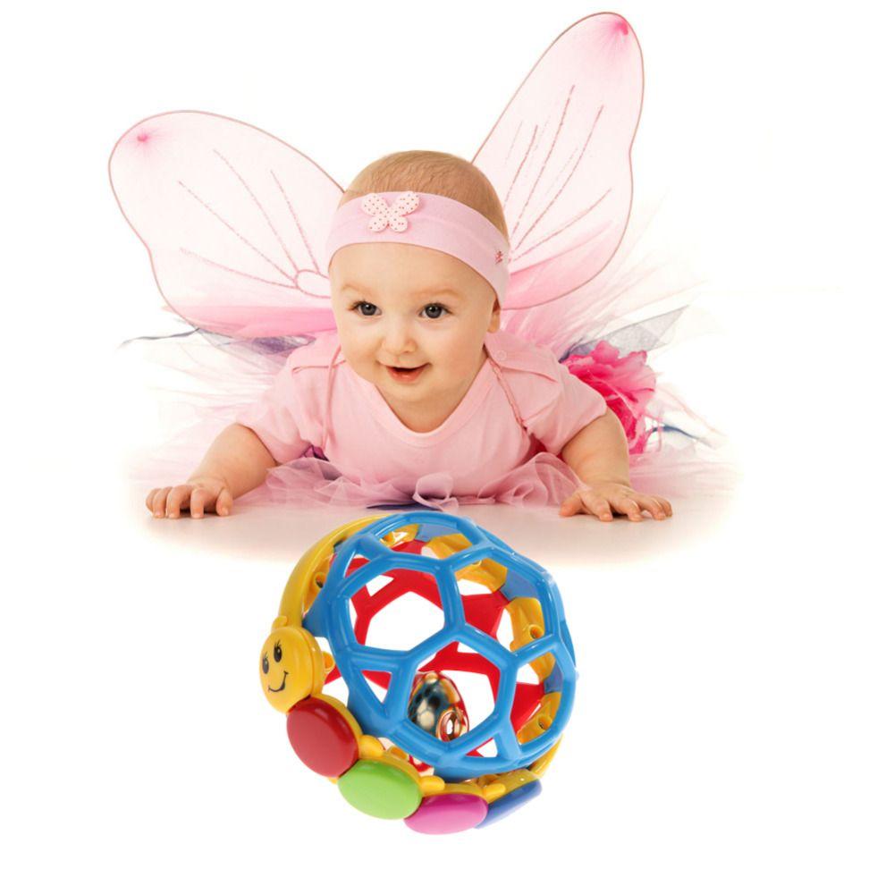 Baby Toy Fun Po 'Forte Campana Palla Bambino palla giocattolo sonagli Sviluppare Bambino Intelligenza Bambino Attività Cogliere giocattolo della Campana di Mano sonaglio
