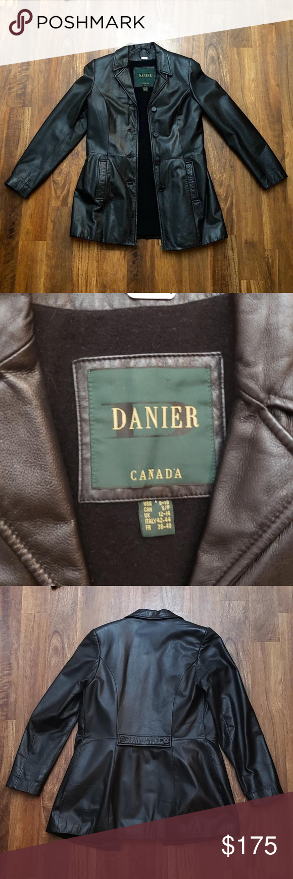 Vintage Danier Canada Leather Jacket Genuine Leather 80