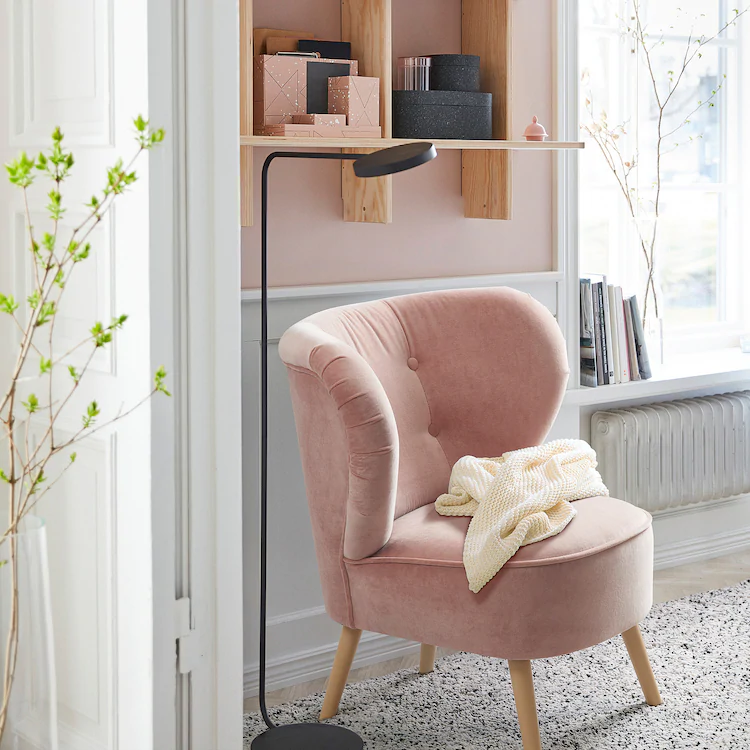 Gubbo Sessel Samt Rosa Furniture New Room Home
