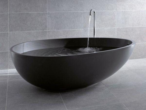 Schwarze Badewanne Als Badezimmer Akzent Black Bathtub, Modern Bathtub,  Bathroom Accents, Bathroom Fixtures