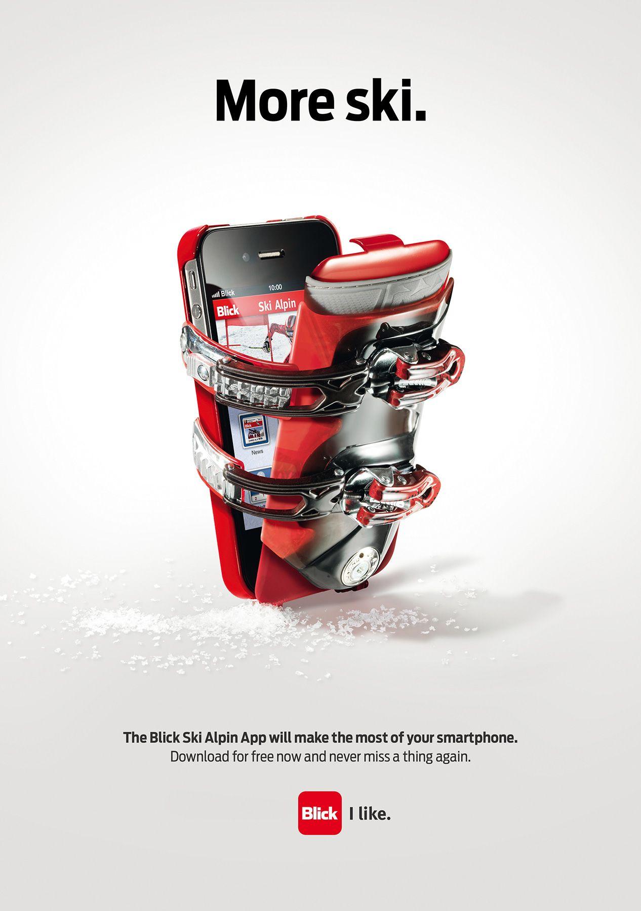 Blick ad print print ads best iphone advertising