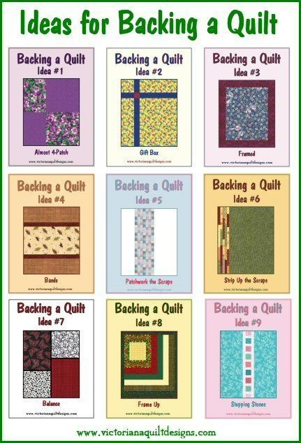 Ideas for Backing a Quilt: #LetsQuilt by cathleen