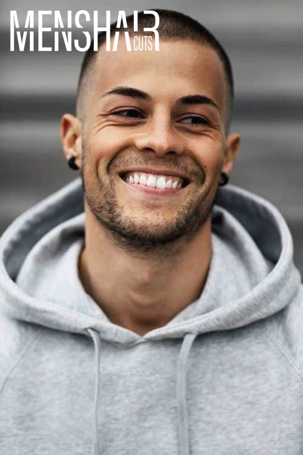 Looking for the most popular short haircuts for men? Our gallery offers you a wide range of options, from a classy military long on top fade on the sides cuts with beards to faux hawk with straight or with curly hair. #menshaircuts #menshairstyles
