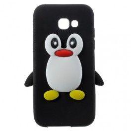 Samsung Galaxy A3 2017 musta pingviini silikonikuori.