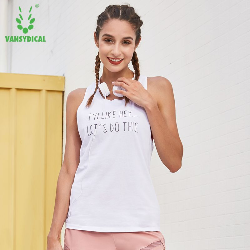52c87cdb6 Women's Letters Running Vests Sleeveless Fitness Gym Tops Loose Yoga Tank  Tops Quick Dry Summer Training