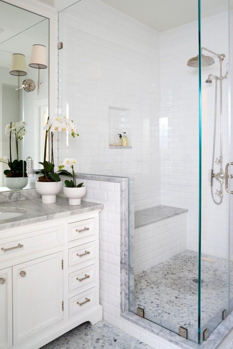 Rustic farmhouse bathroom ideas with shower 49 | Rustic farmhouse ...