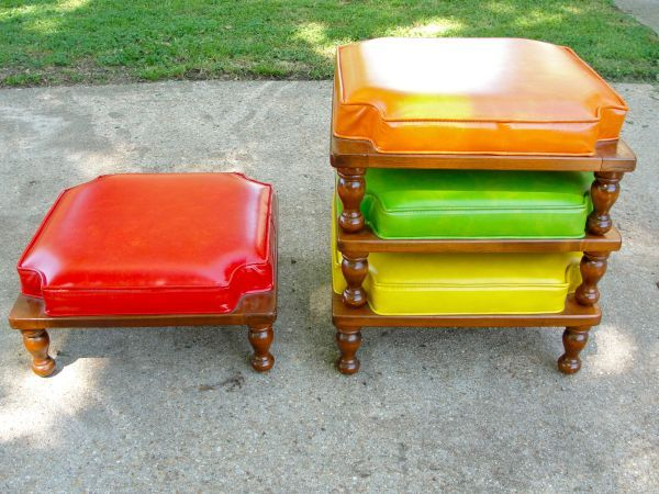 Mid Century Modern Stackable ottomans/stools