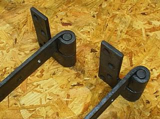 Blacksmith Hand Forged Wrought Iron Strap Hinges And Pintles 5 Sizes Available Blacksmithing Iron Straps Wrought Iron