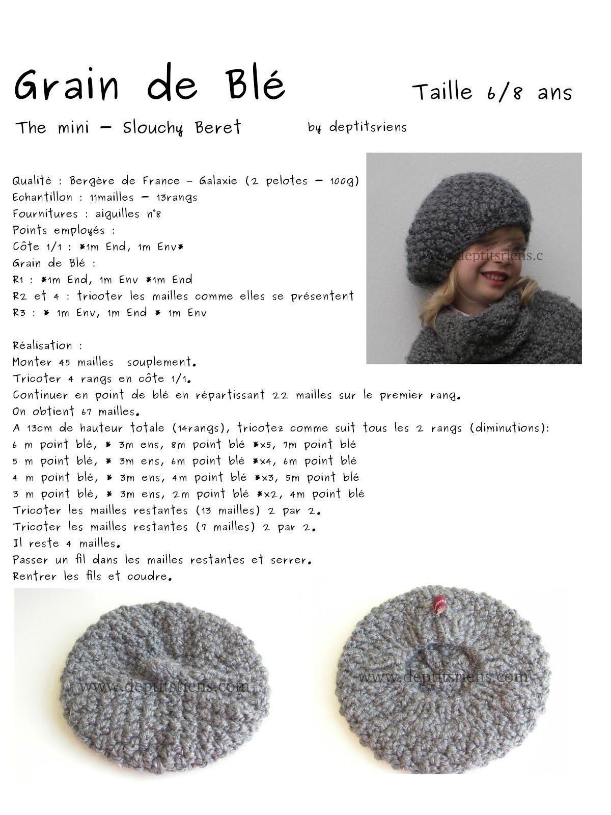 tricoter 1 beret