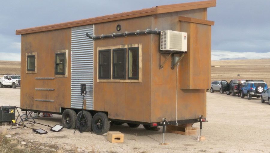 Steampunk Tiny House – A tiny house on wheels designed by Maximumus Extreme in Ogden, Utah | pinned by haw-creek.com