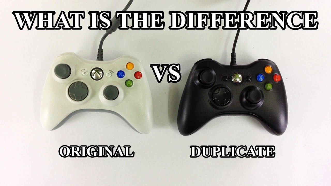 Cool Xbox 360 First Controller Vs Replicate Controller How To