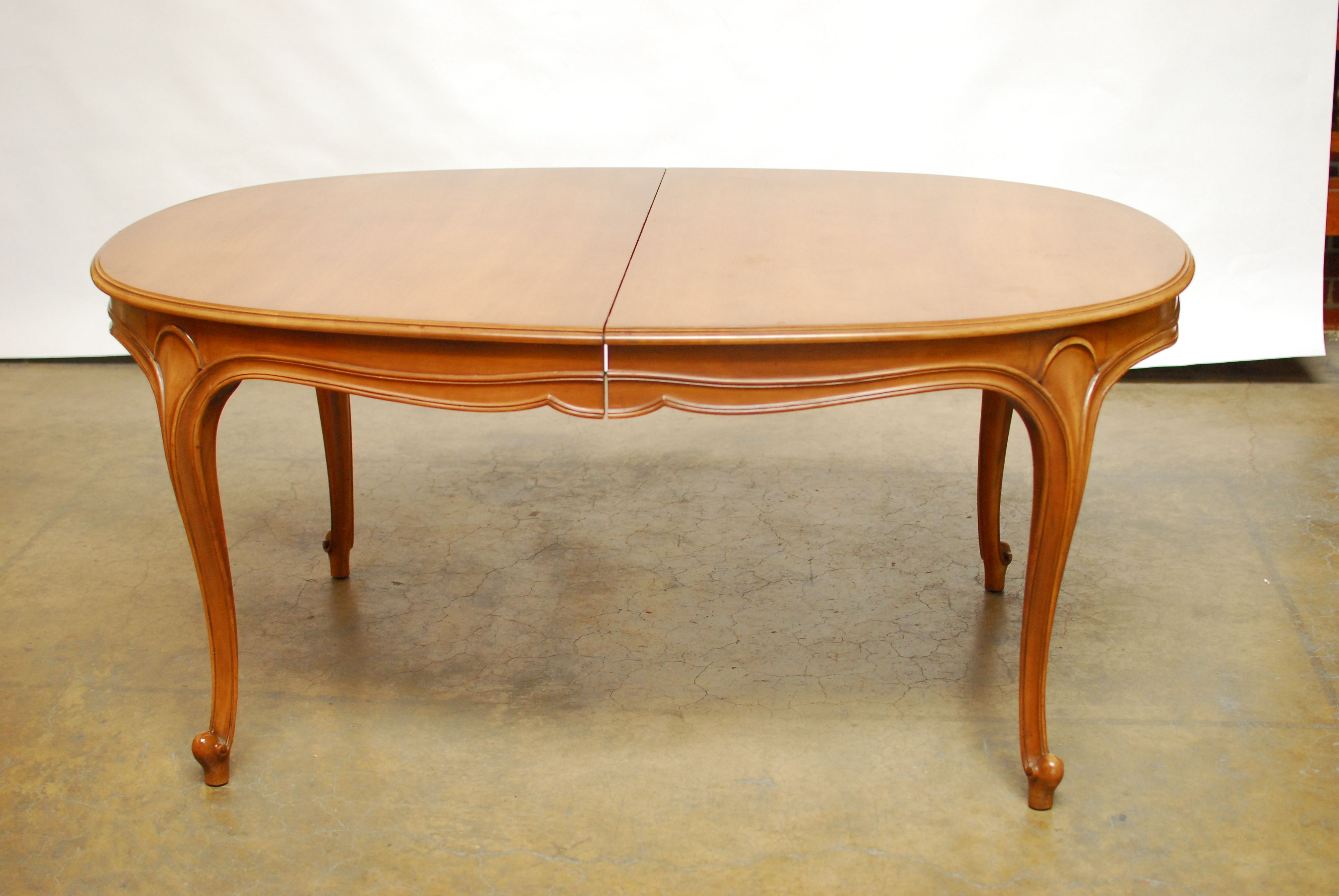 Dining Table W Leaves Drexel French Provincial Dining Table W - Dining table with 3 leaves