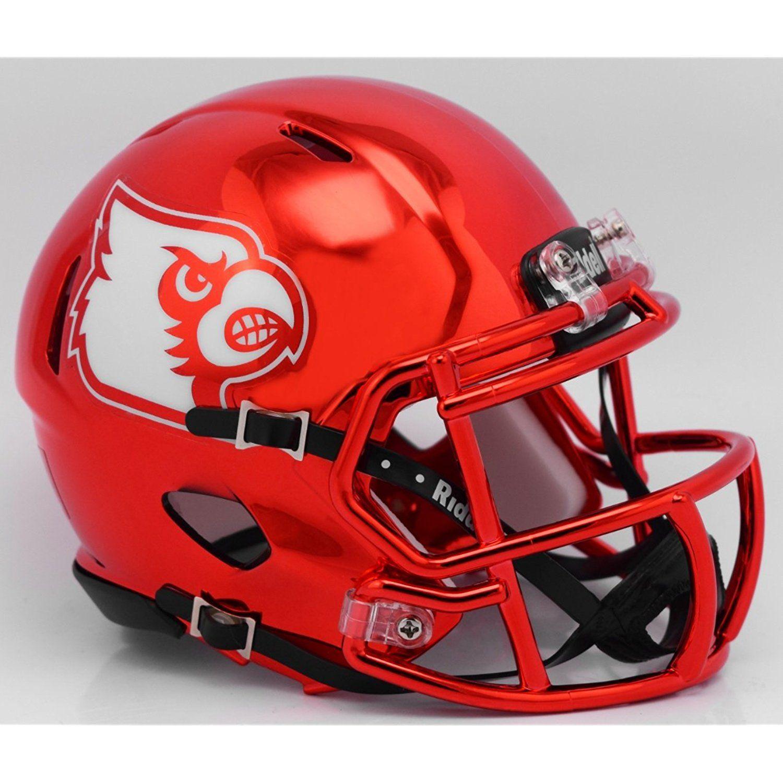 Louisville Cardinals Alternate Red Chrome NCAA Mini Speed