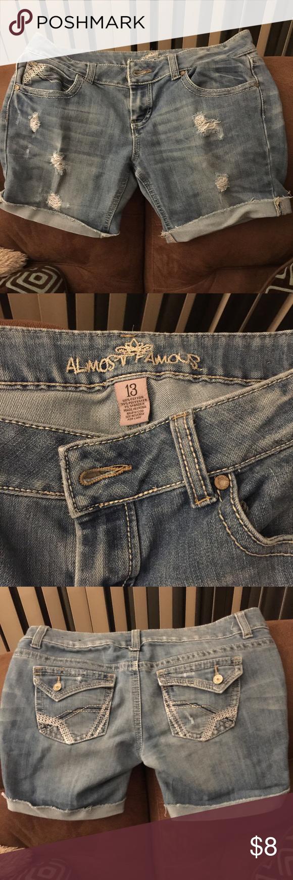 Almost famous juniors size 13 shorts Super cute distressed size 13 shorts (juniors) Almost Famous Shorts Jean Shorts