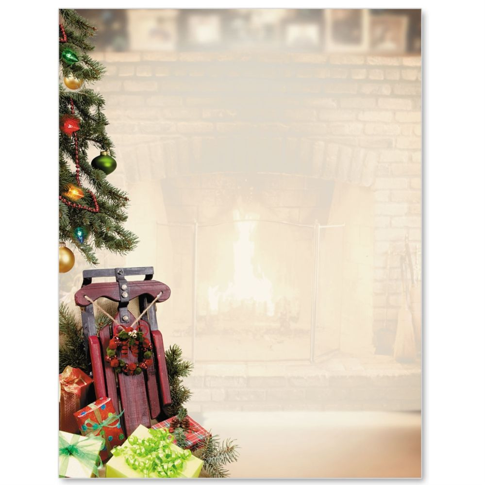 Christmas Memories Letterhead Border Papers  Paperdirect  Clipart