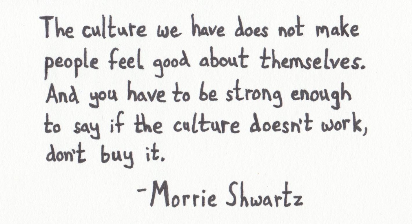 Image result for culture tuesday with morrie