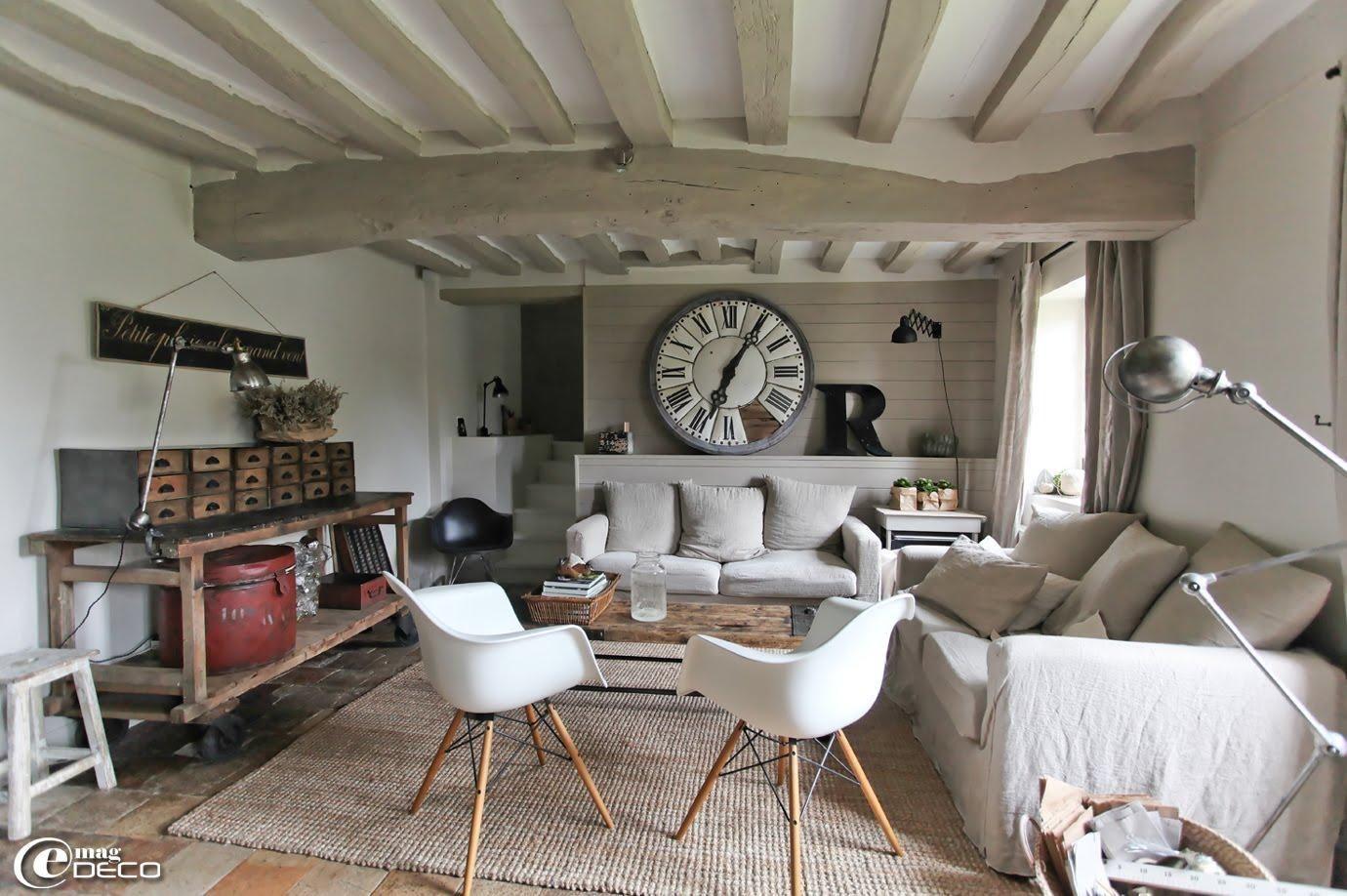 deco contemporaine maison ancienne - Recherche Google | Salon | Idee ...