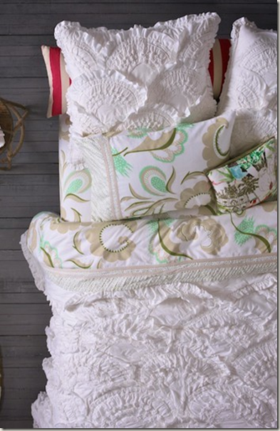 Textured comforter looks like sea shells <3