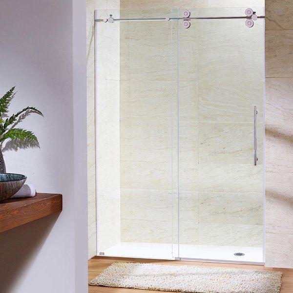 Elan 48 x 74 Single Sliding Frameless Shower Door #framelessslidingshowerdoors