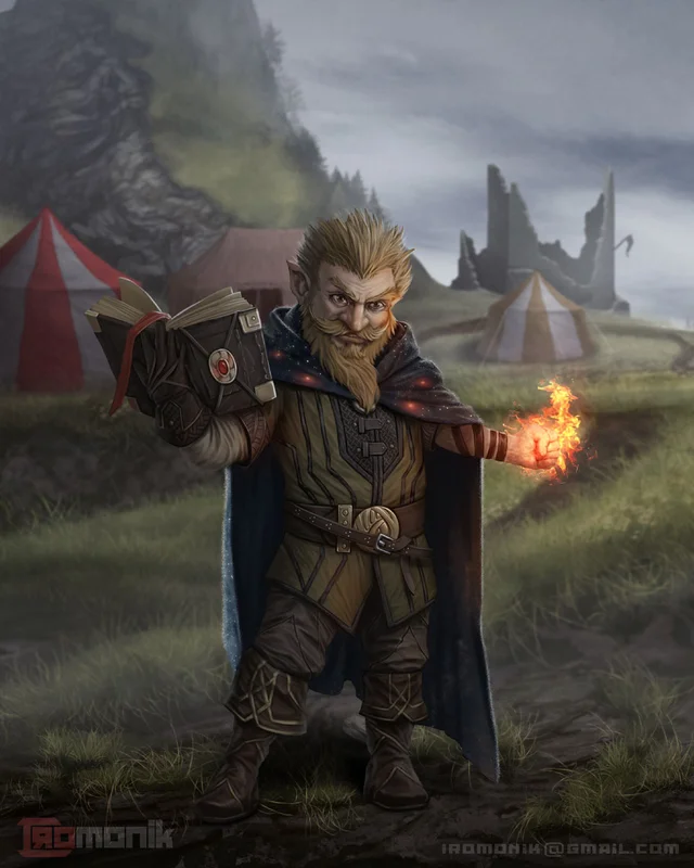 [Art] Gnome wizard Character Art DungeonsAndDragons in