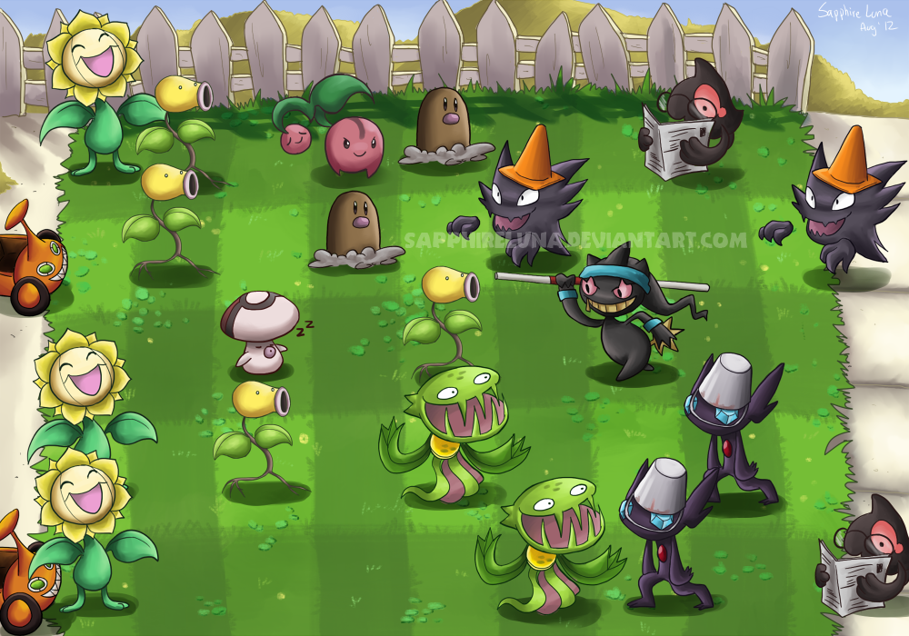 Plants Vs Zombies By Sapphireluna Ghost Pokemon Plants Vs Zombies Plant Zombie