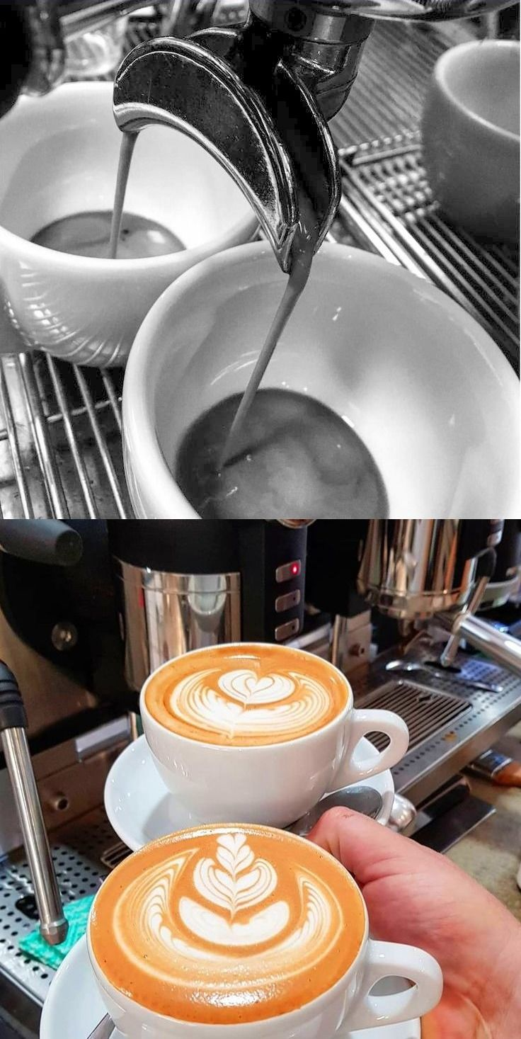 Before and after twin lattes by first fruits specialty