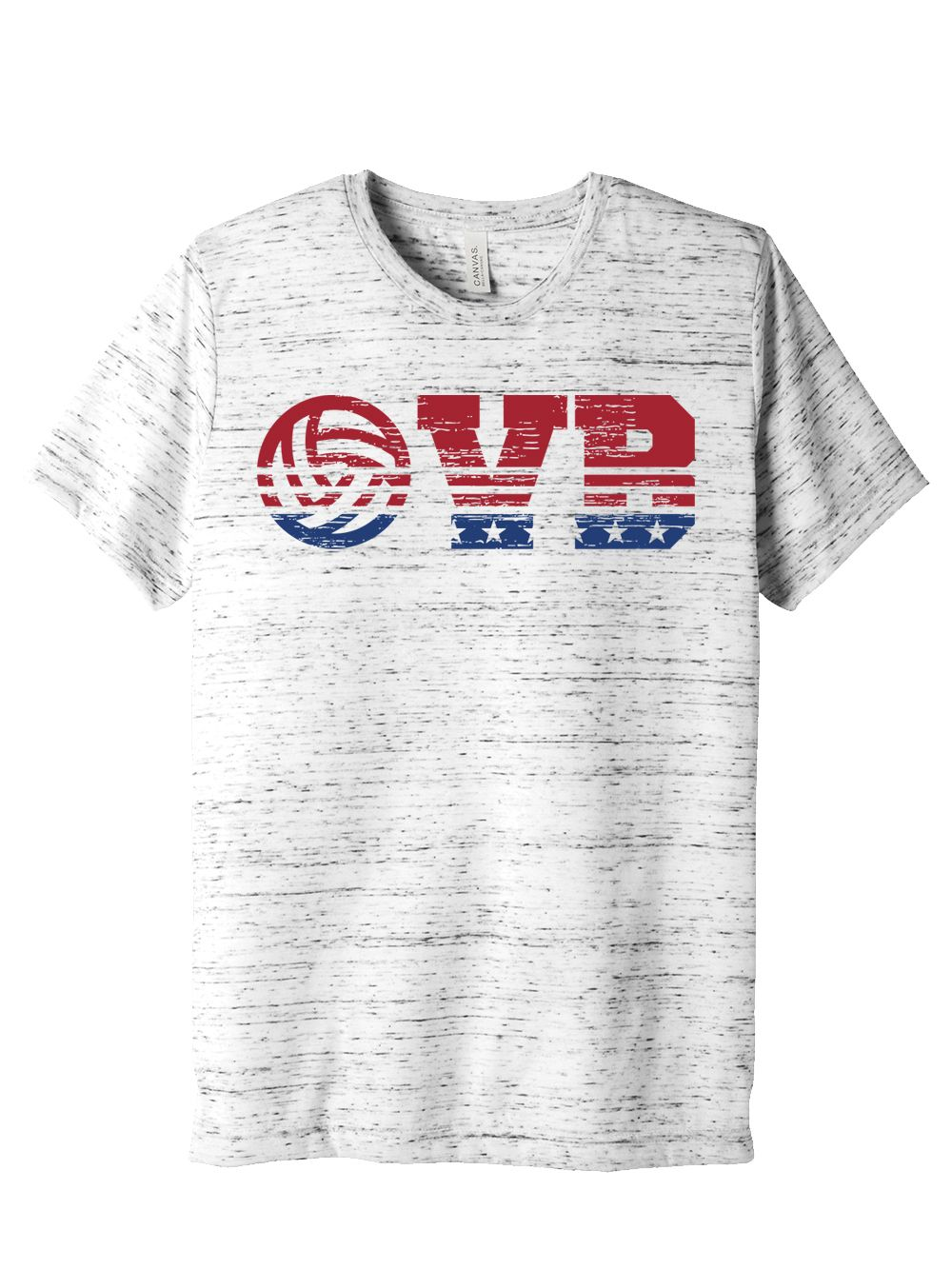 White Red Blue Volleyball Tee Volleyball Shirt Designs Volleyball Designs Shirt Designs