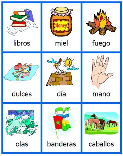 free spanish noun cards printables for acticles flashcards activity