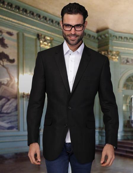 SKU#PN35 Mens 2 Button Cool Linen Fabric Jacket Summer Blazer ...