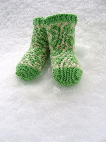 Cute little fair isle socks to fit a 6-12 month old cherub. Knit ...