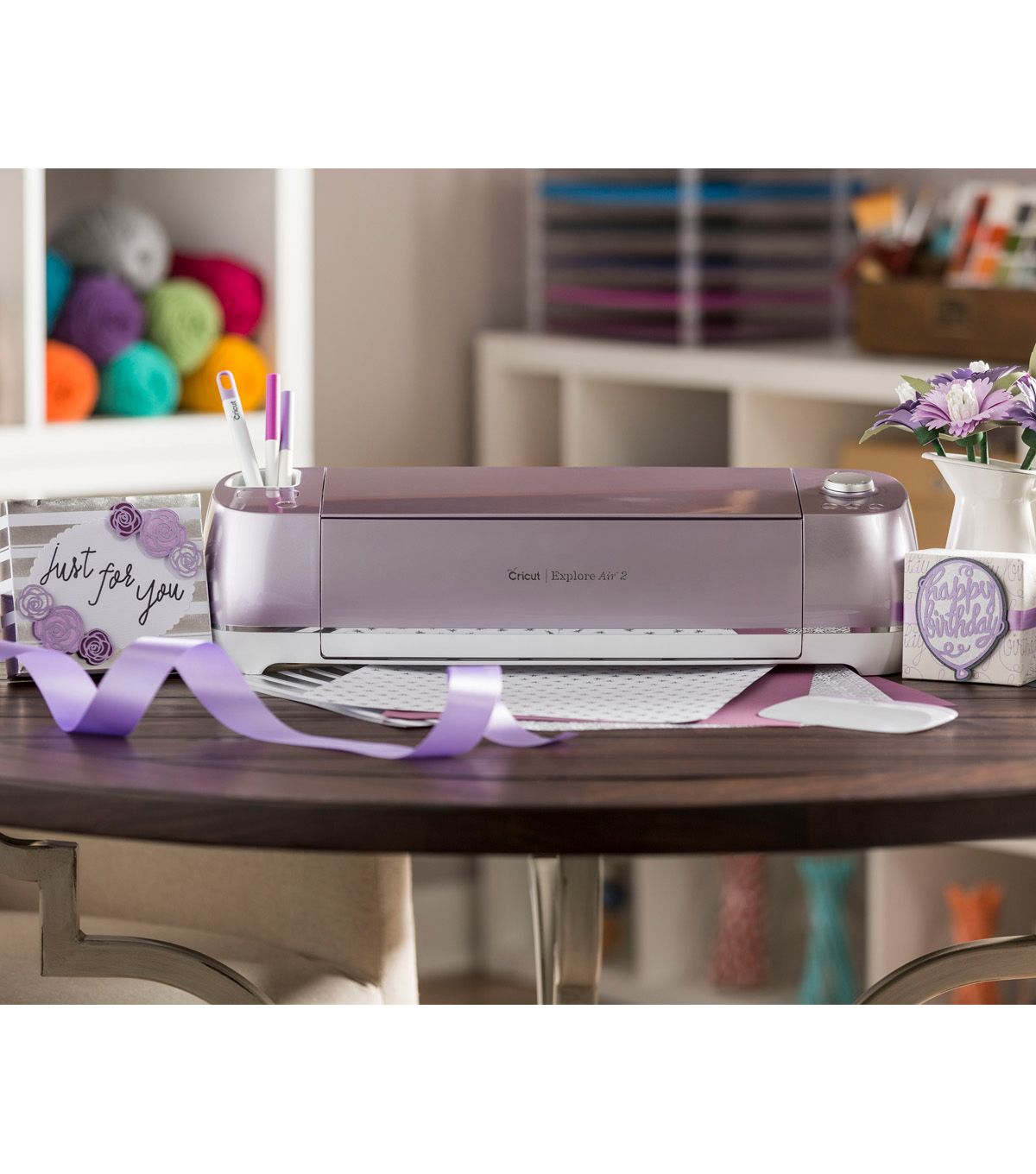Cricut Explore Air 2 Special Edition Wisteria Machine Bundle Bundle Includes Everything You Need To Start Projects Embossed Paper Fine Point Pens Craft Room